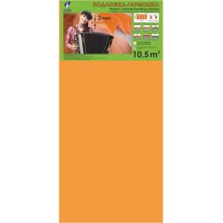 Подложка-гармошка Солид 1050*500*3 Оранжевая (10,5м2)